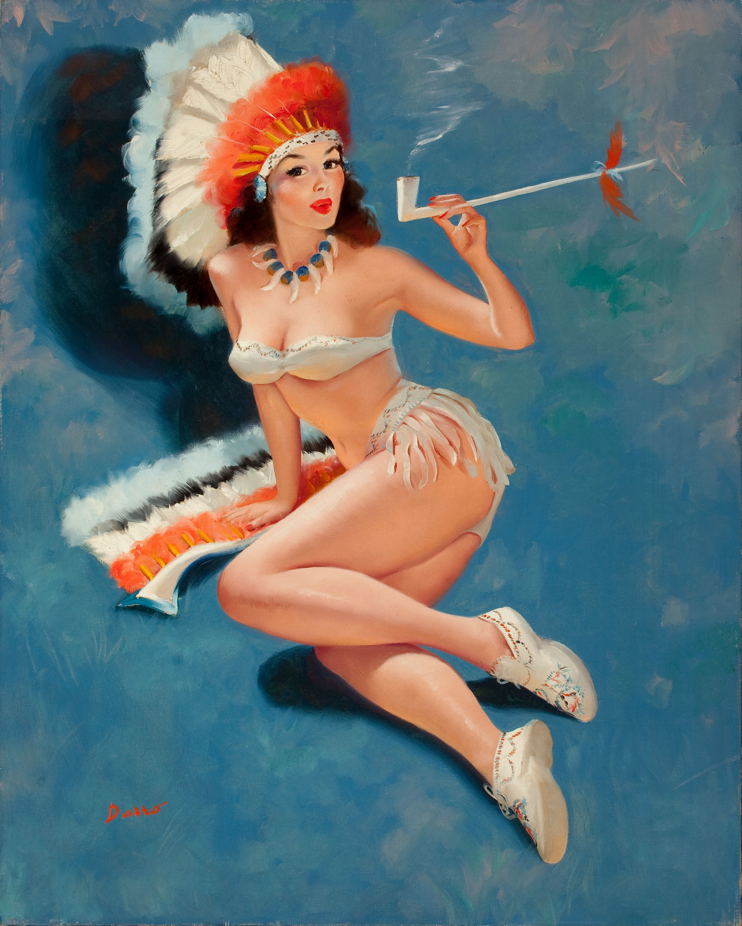 from Steve nude cowgirl and indian maiden