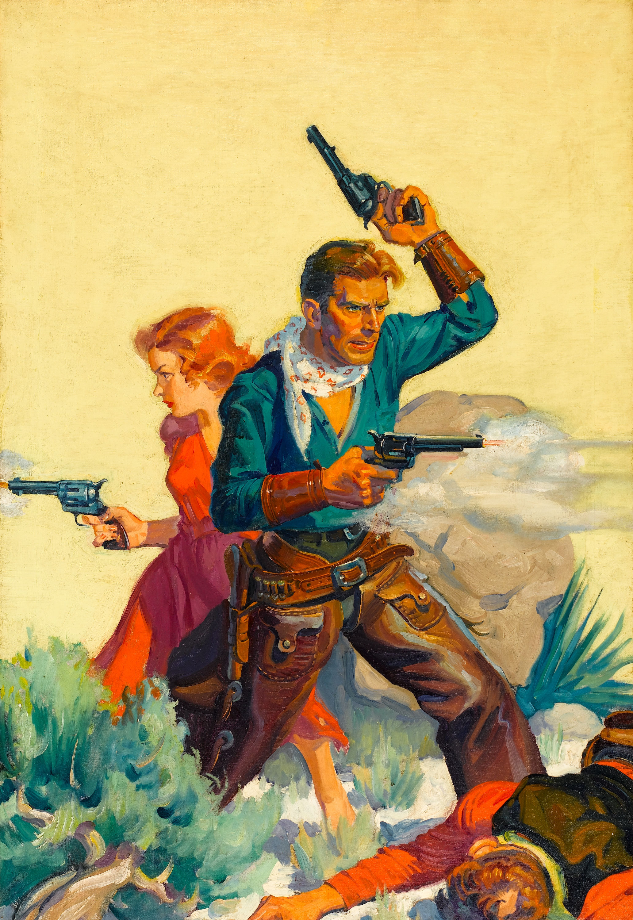 Western Book Cover Art : Cowgirl pulp art and magazines
