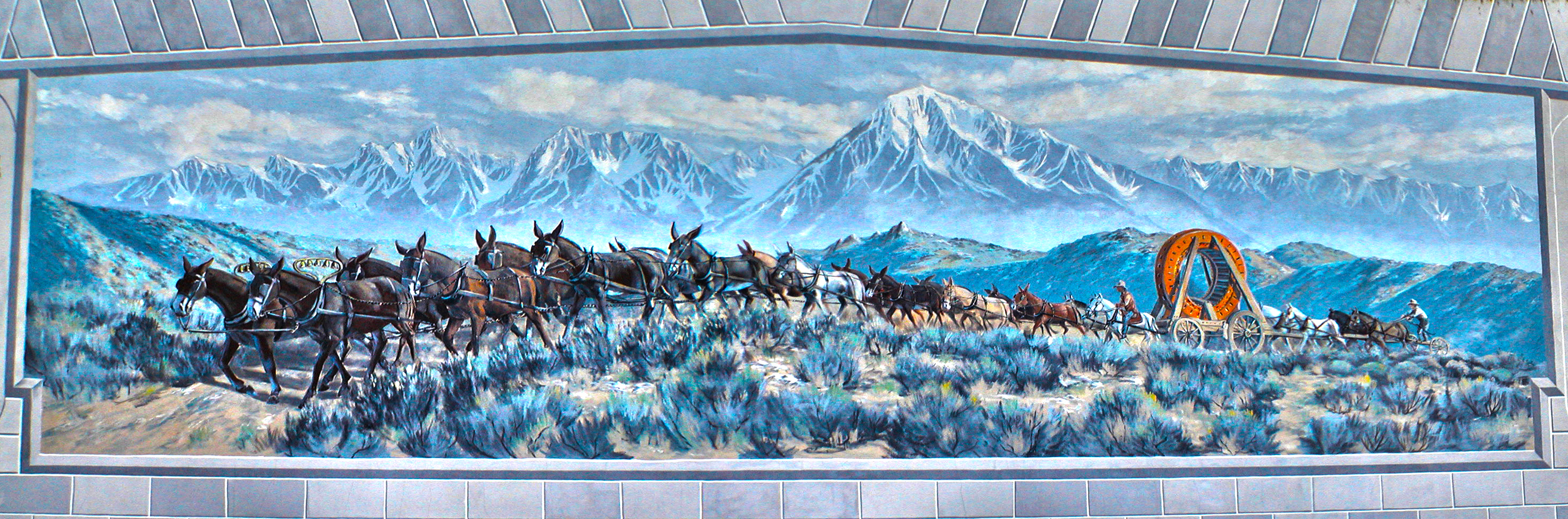 My owens valley for California mural